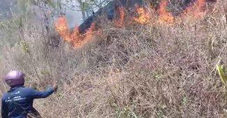 gunung merapi terbakar